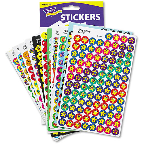 TREND SuperSpots and SuperShapes Sticker Variety Pack, Assorted, 5,100pk