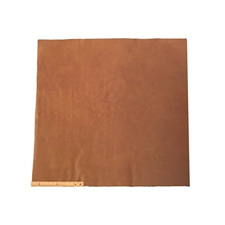 Upholstery Leather Piece Cowhide Light Brown Light Weight 36 x 36 inches, 9 Square