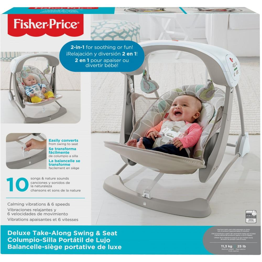 Fisher Price Deluxe Take Along Swing And Seat With 6 Sds