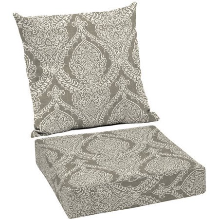 Better homes and gardens outdoor patio deep seat cushion set multiple patterns available for Better homes and gardens deep seat cushion