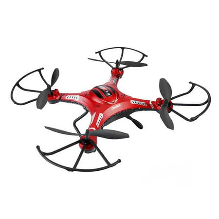 AZImport F183D Potensic RTF Drone with New Altitude Hold, Auto Hovering Function, 2MP Camera & 5.8Ghz FPV LCD Screen - Red