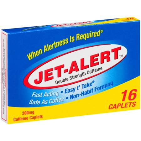 Jet-Alert Double Strength 200 Mg Caffeine Caplets, 16 ct
