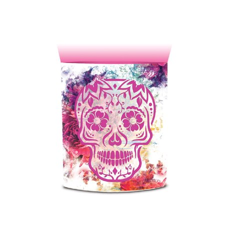 CoTa Global CoTa Global Color Changing LED Light Lantern Day of the Dead Sugar Skull Art Design Home Garden Décor 6.5 Inch Handcrafted Lamp Accent Bedroom Living Room Indoor Outdoor Portable Lanterns ()
