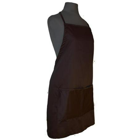 Image of A Greener Kitchen AP005 Mens Organic Cotton Full Apron - Chocolate Brown