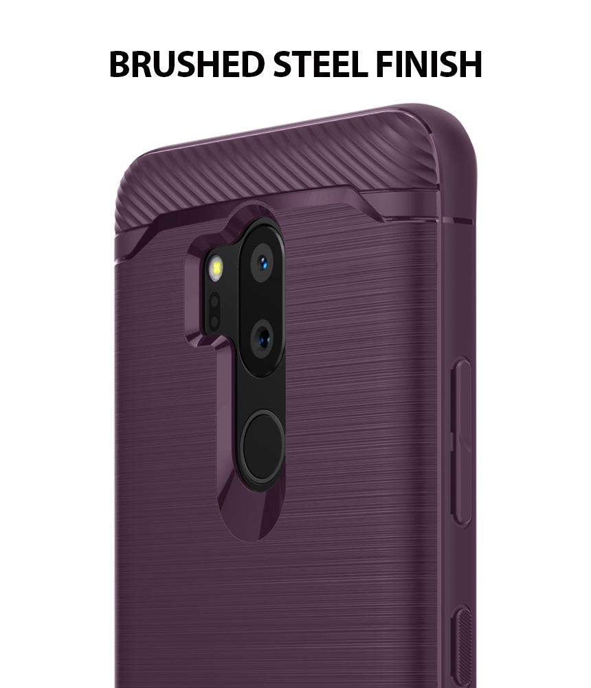 Brushed Metal Grip Design Flexible Full TPU Impact Resistant Body Cover with Wrist Strap for LG G7 2018 Ringke Onyx Case for LG G7 ThinQ Lilac Purple