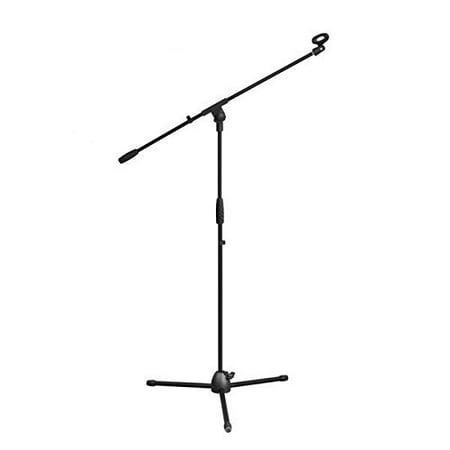 Telescoping Boom Arm (Pyle Foldable Tripod Microphone Stand - Universal Mic Mount and Height Adjustable from 37.5'' to 65.0'' Inch High w/Extending Telescoping Boom Arm Up to 28.0'' - Knob Tension Lock Mechanism PMKS3 )