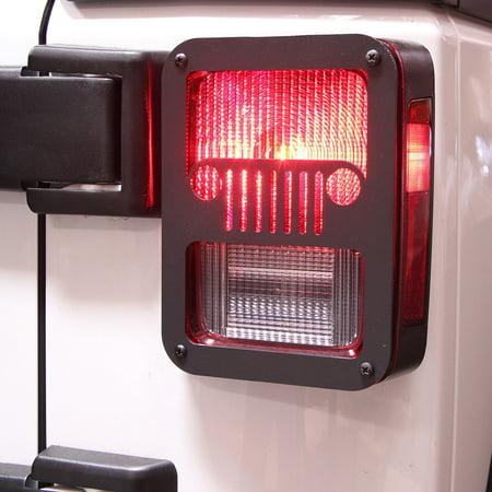 Xprite Jeep Grill Black Rear Taillight Cover for 2007 - 2018 Jeep Wrangler JK