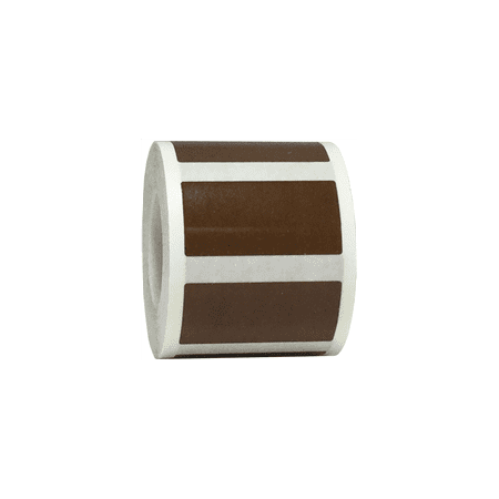 Brown Rectangle Stickers, 0.75 x 1.5 Inches Wide, 500 Labels on a Roll (Label Sticker Roll)