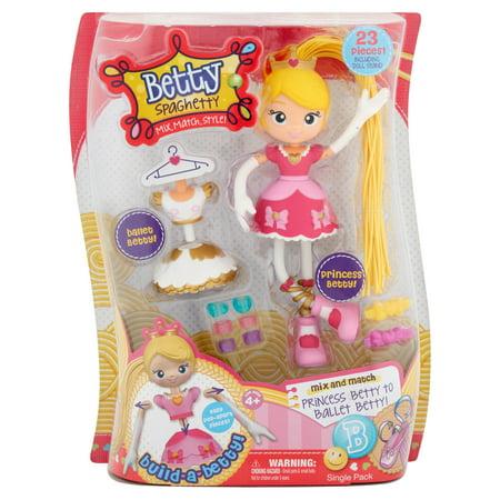 Ballerina Mix - Moose Betty Spaghetty Doll Single Pack, 23 count