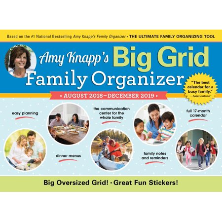 2019 Amy Knapp's Big Grid Family Organizer Wall Calendar (Wall Calendar Big Print)
