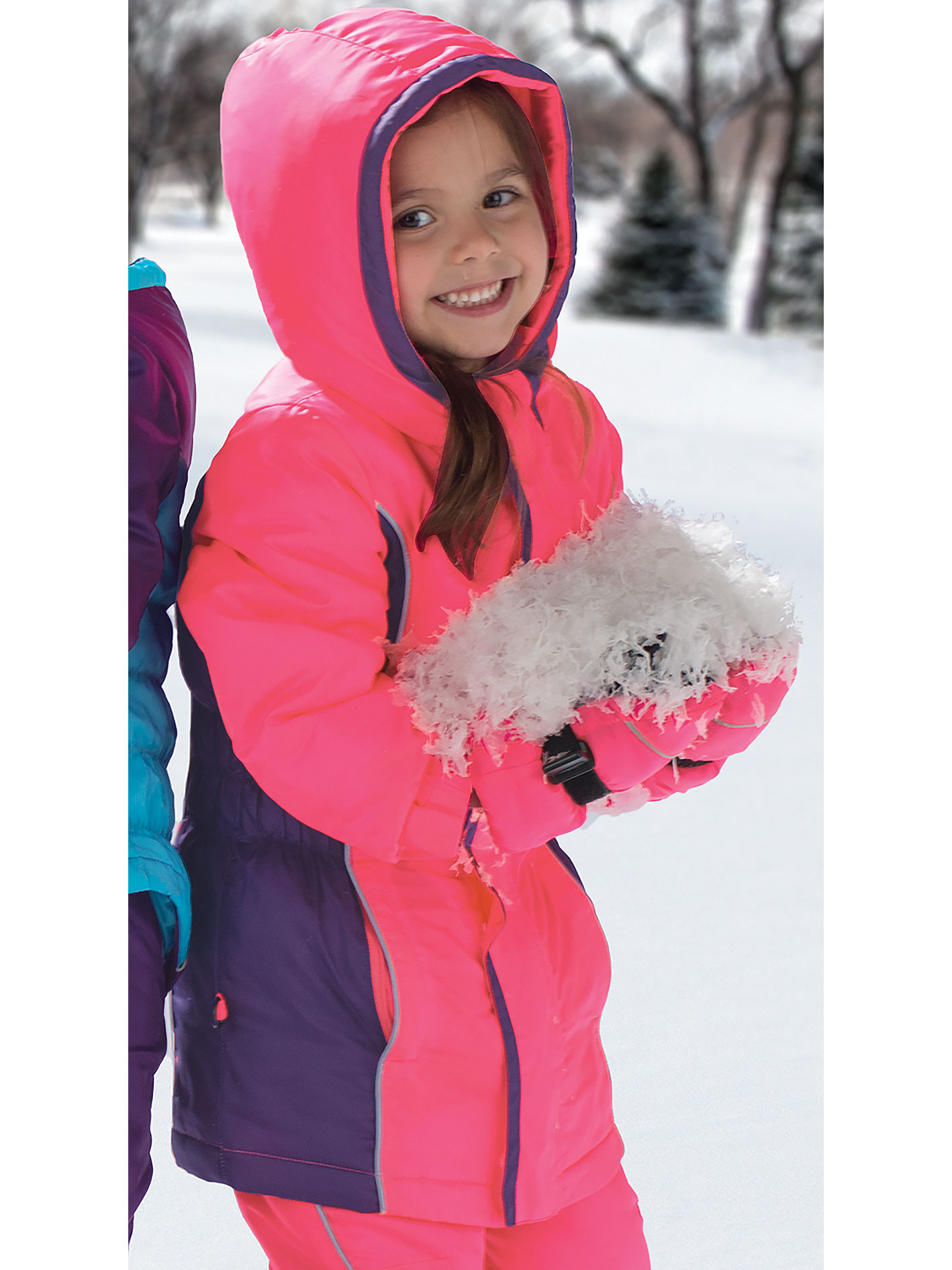 a913f697 Cozy Cub - Cozy Cub Toddler Girl Winter Parka - Hot Pink and Purple with  Grow-With-Me Sleeves - Waterproof Winter Jacket - Walmart.com