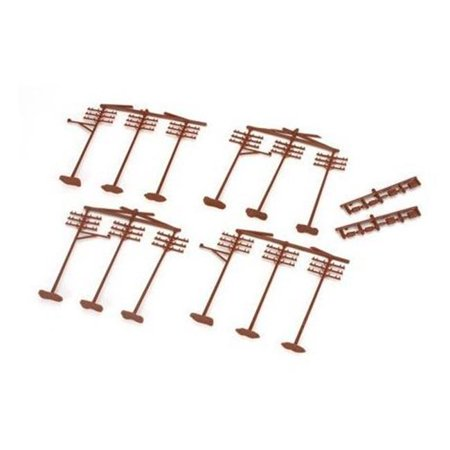 HO Scale Telephone Poles - Pack of 12
