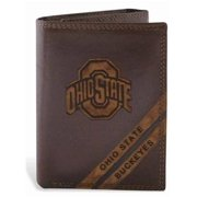 ZeppelinProducts OSU-IWD2-BRW Ohio State Trifold Debossed Leather Wallet