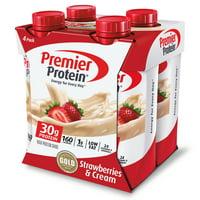Premier Protein Shake, Strawberries & Cream, 30g Protein, 11 Fl Oz, 4 Ct