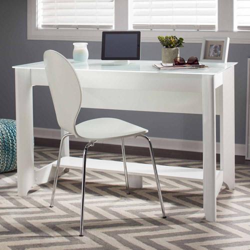 Bush Furniture Aero Collection Writing Desk In Pure White