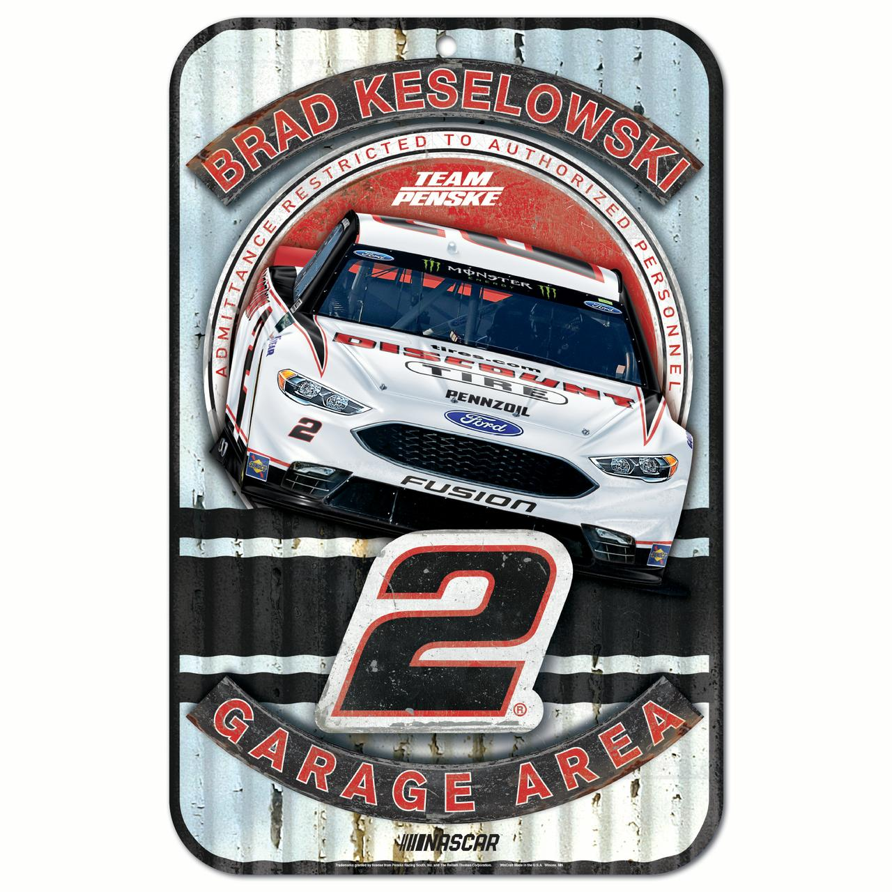 Brad Keselowski WinCraft Driver 11'' x 17'' Reserved Parking Sign - No Size