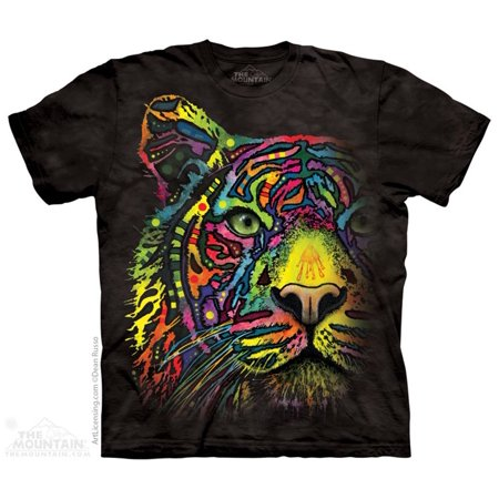 The Mountain RAINBOW TIGER Black Youth Unisex T-Shirt