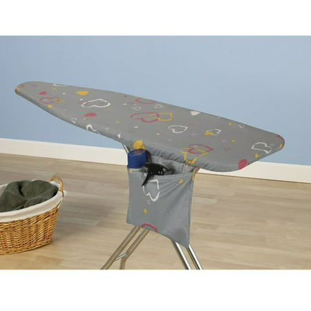 Household Essentials Ultra Series Ironing Board Cover and Pad, Mica Sparkle Hearts (Heart Ironing Board Cover)