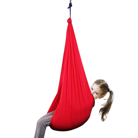 Indoor Therapy Swing for Kids with Special Needs (Hardware Included) Snuggle Swing   Cuddle Hammock for Children with Autism, ADHD, Aspergers   Great for Sensory Integration - image 6 de 6