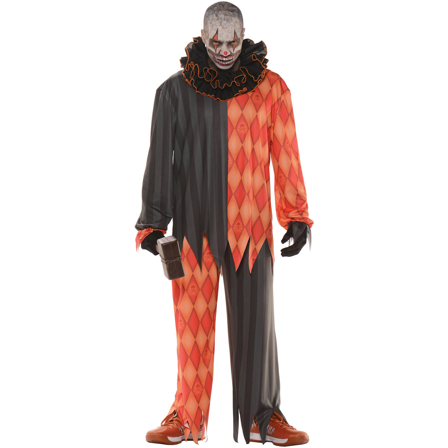 Evil Clown No Mask Men's Adult Halloween Costume