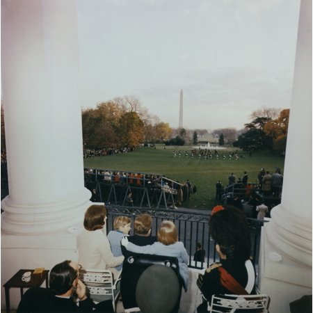 - President Kennedy And His Family Watch The Black Watch Tattoo Perform From The South Balcony Of The White House L-R Jacqueline Kennedy History