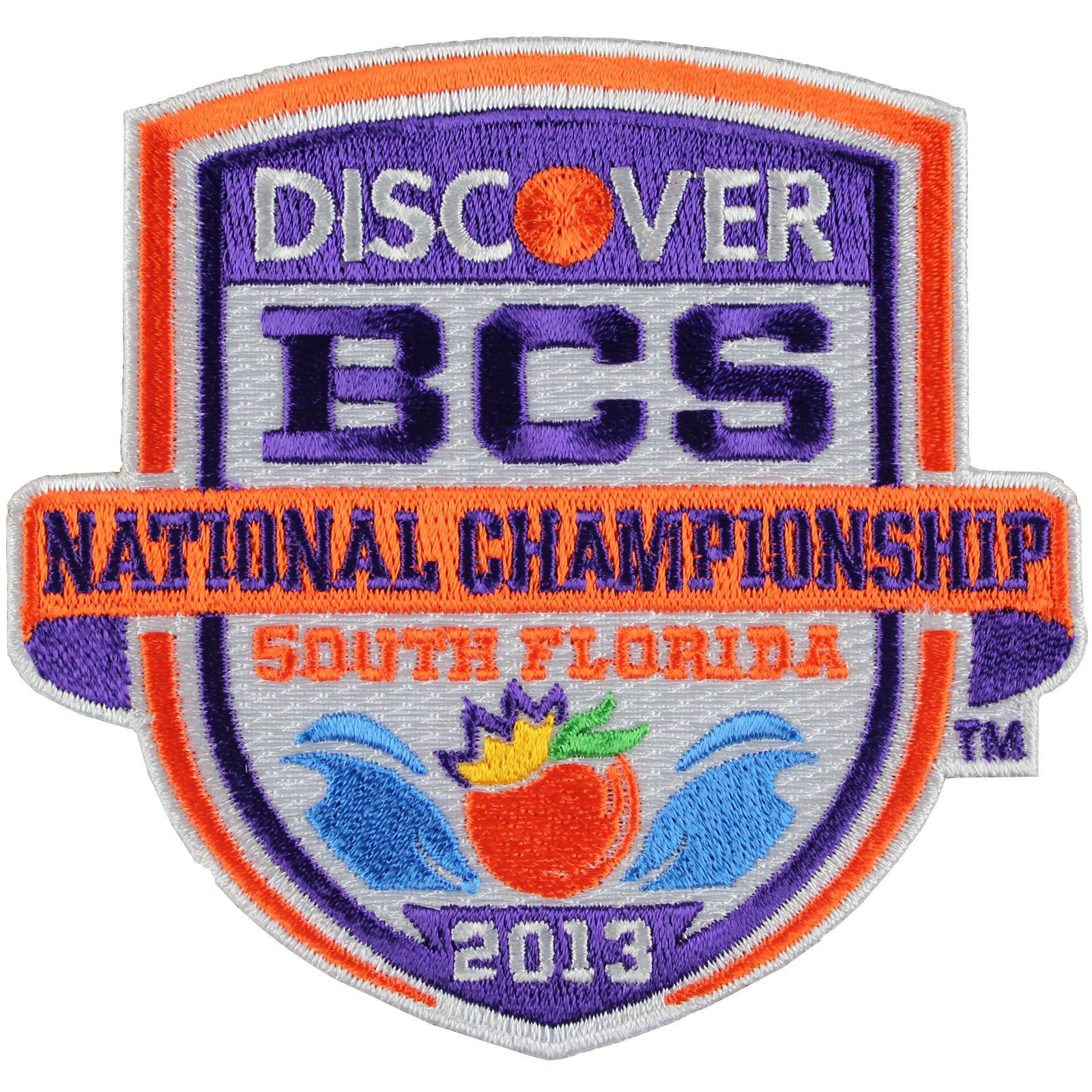 2013 Discover BCS National Championship Game Patch (Notre Dame vs. Alabama)
