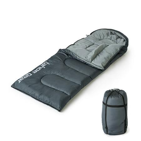 Oversize Rectangular Sleeping Bag - Tahoe Gear 20 Degree Rectangular Lightweight Camping Excursion Sleeping Bag