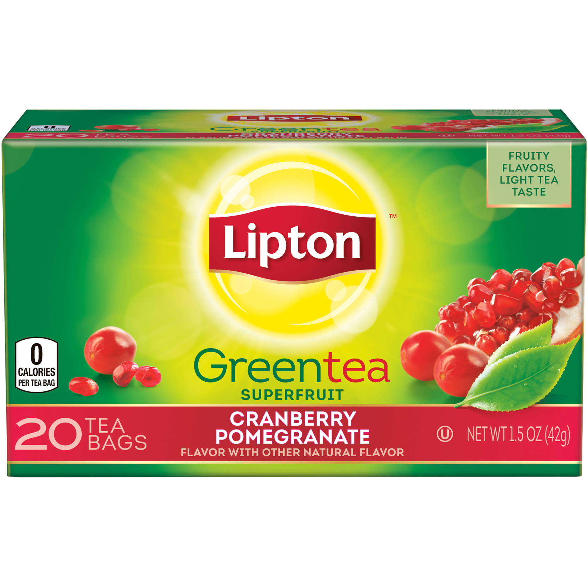 Lipton Cranberry Pomegranate Green Tea, 20 ct