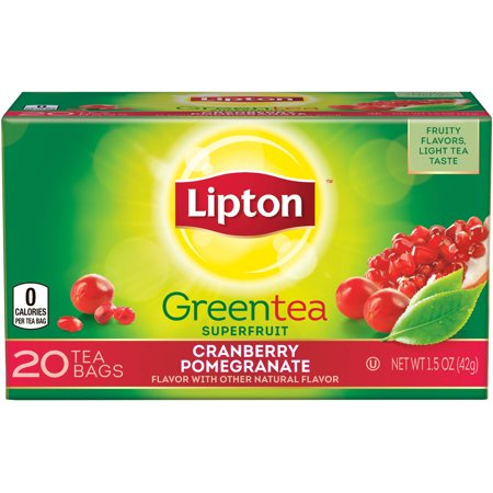 Lipton Cranberry Pomegranate Green Tea, 20 ct
