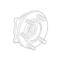 Genuine OE GM Hub & Bearing 15946732