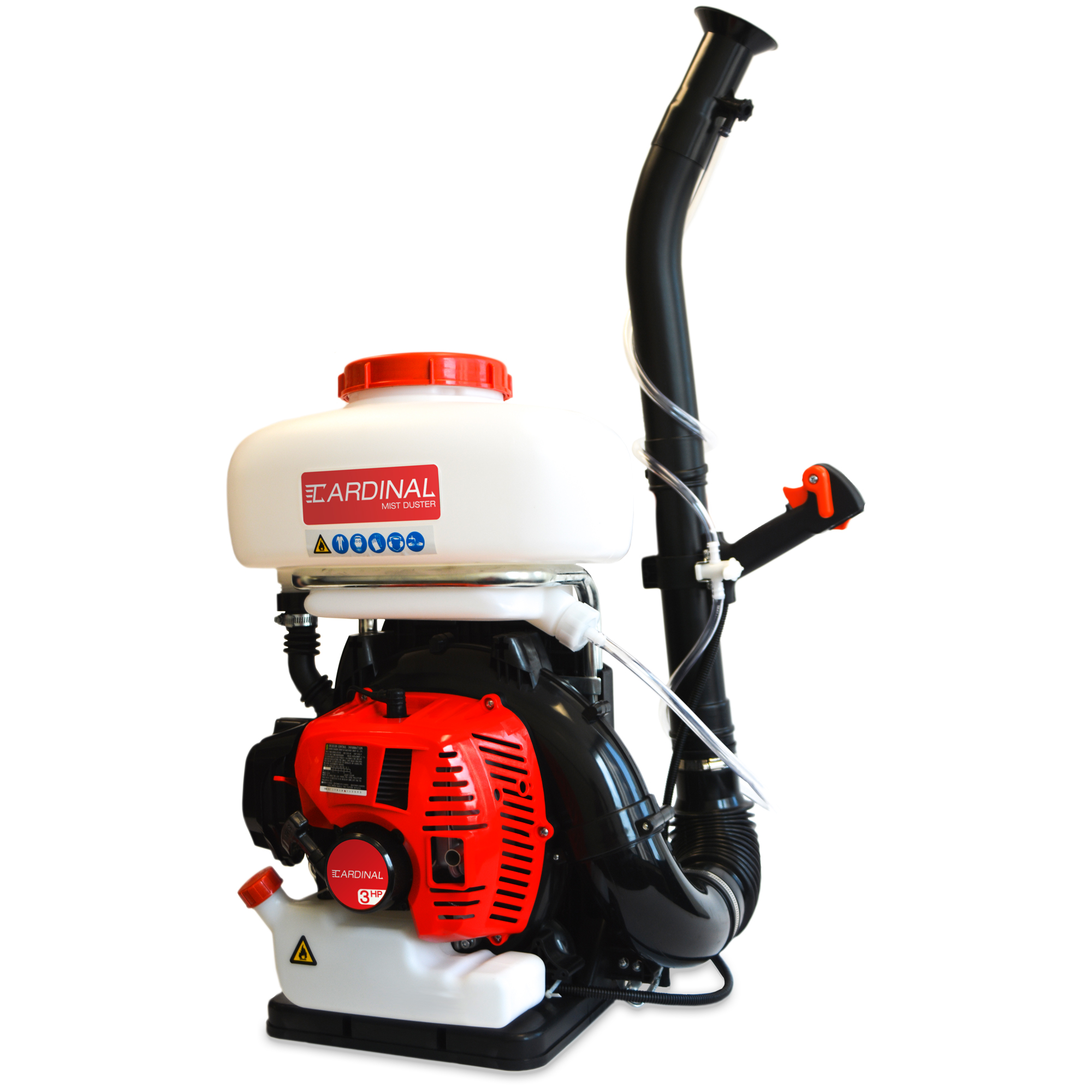 3HP Backpack Fogger Blower Duster Leafblower 3-in-1 Sprayer with 3.5 Gal Chemical Tank for Pest Control