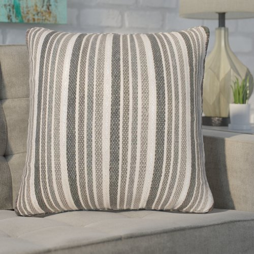 Ivy Bronx Mastropietro Stripe Foil Printed Cotton Throw Pillow (Set of 2)