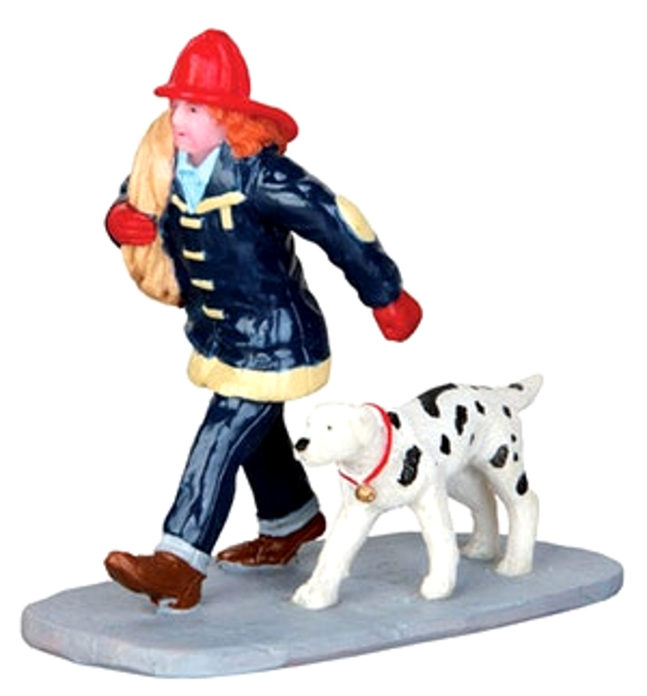 Lemax 42262 SAVING THE DAY Christmas Village Figurine G Scale Figure Decor