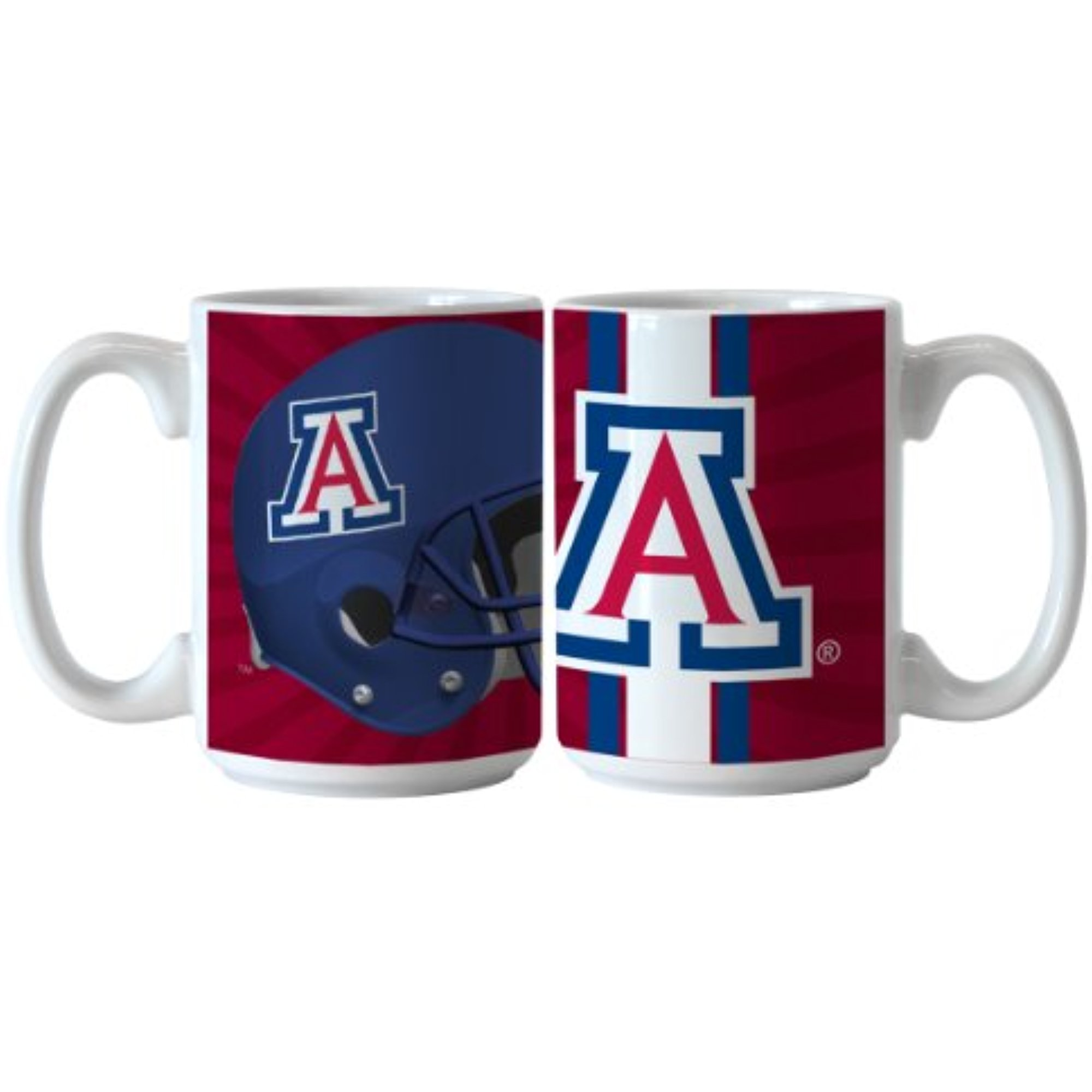 NCAA Arizona Wildcats Ceramic Burst Mug, 15-ounce, 2-Pack