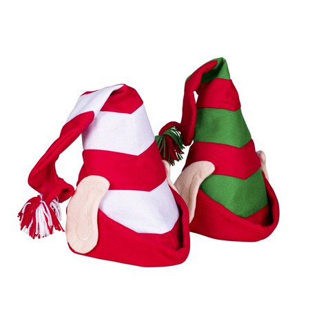 Deluxe Felt Elf Hat With Ears Santas Helper Christmas Time Costume Accessory](Elf Ears And Hat)