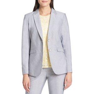 Two-Button Cotton Blazer