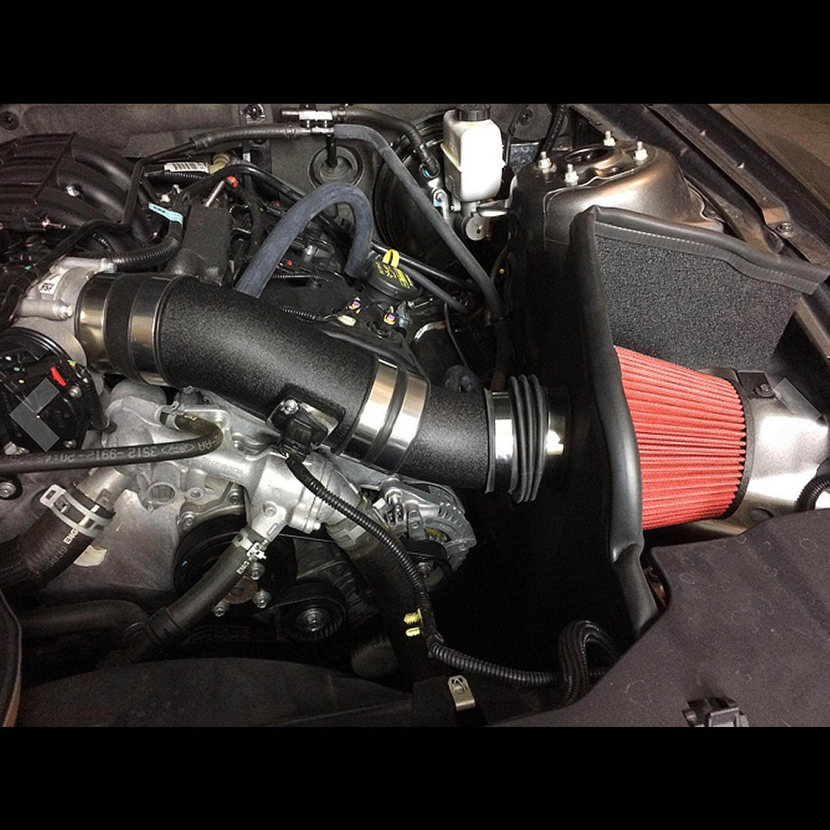 For 11-14 Ford Mustang Black Coated Aluminum Air Intake System - V6 12 13