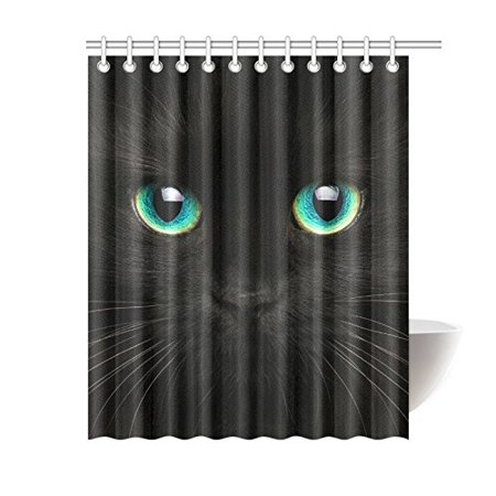 GCKG Cute Animal Shower Curtain, Black Cat Polyester Fabric Shower Curtain Bathroom Sets 60x72 Inches - image 3 de 3