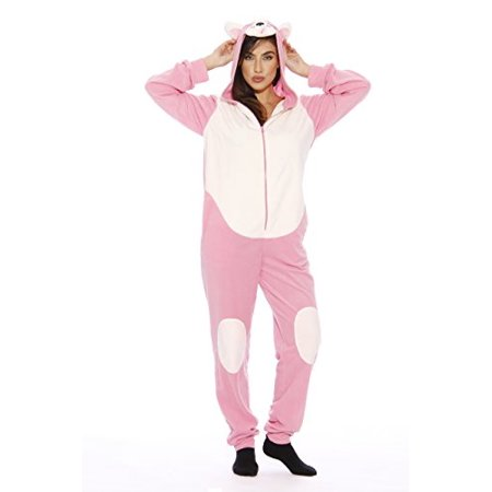 Just Love Adult Onesie / Pajamas (Pink Pug New, X-Small)