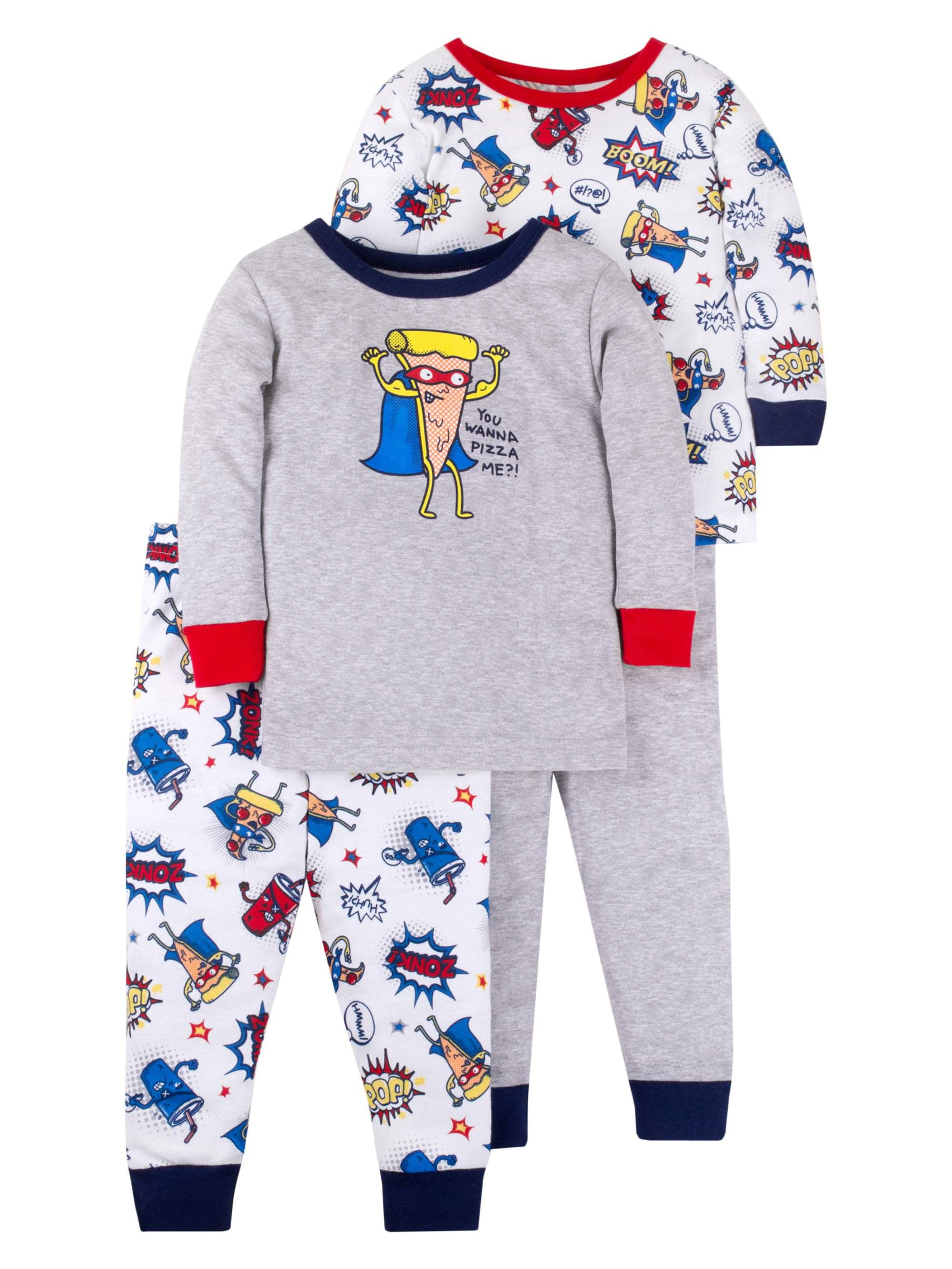 Cotton Tight Fit Pajamas, 4-piece Set (Baby Boys & Toddler Boys)