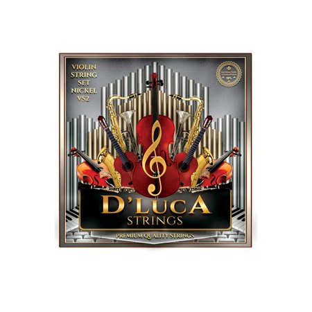 D'Luca Stainless Steel Core Flat Nickel Wound with Ball End Violin String Set 1/10 Vs1 Vs2 Earrings