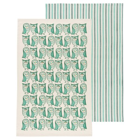 (Now Designs Kitchen Towel Set of Two, Hootenanny)