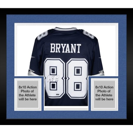 5e98f42a6 Framed Dez Bryant Dallas Cowboys Autographed Blue Limited Jersey ...