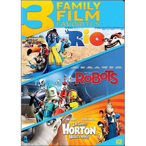 3 Family Film Favorites: Rio / Robots / Dr. Seuss' Horton Hears A Who!
