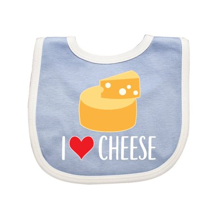 I Love Cheese Funny Cheese Lover Baby Bib (Best Cheese For Baby)
