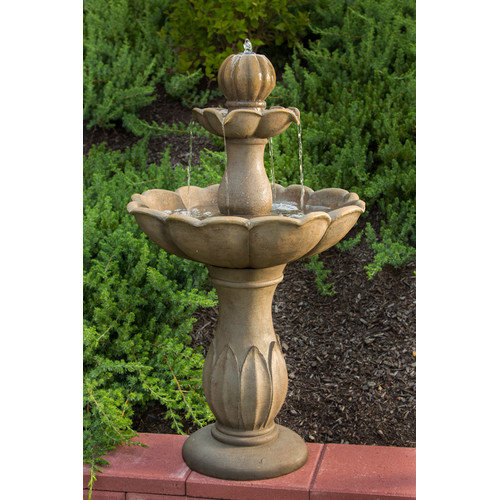 Alfresco Home Lyon Outdoor Resin Tiered Fountain