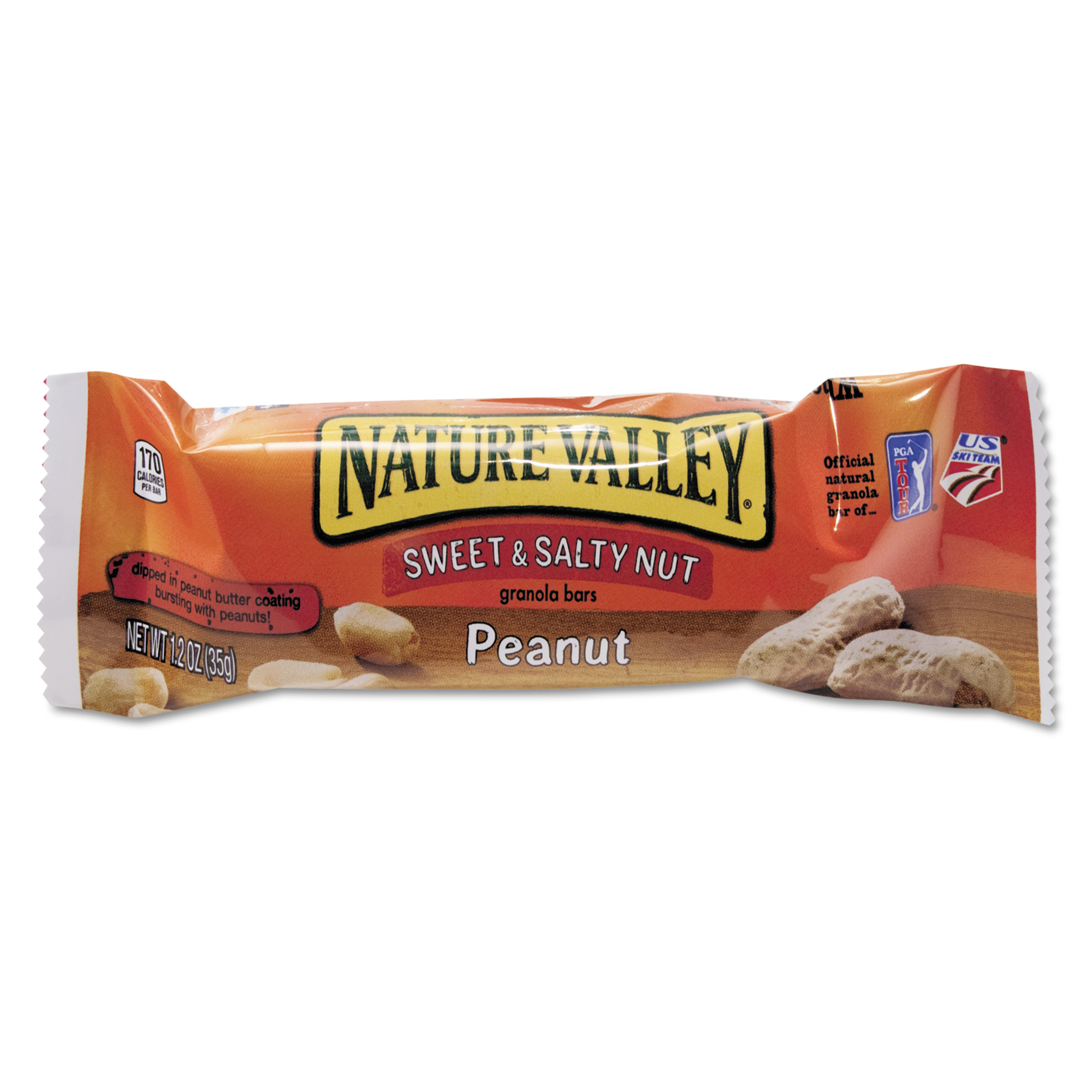 Nature Valley Nature Valley Granola Bars, Sweet & Salty Nut Peanut Cereal, 1.2oz Bar, 16/Box