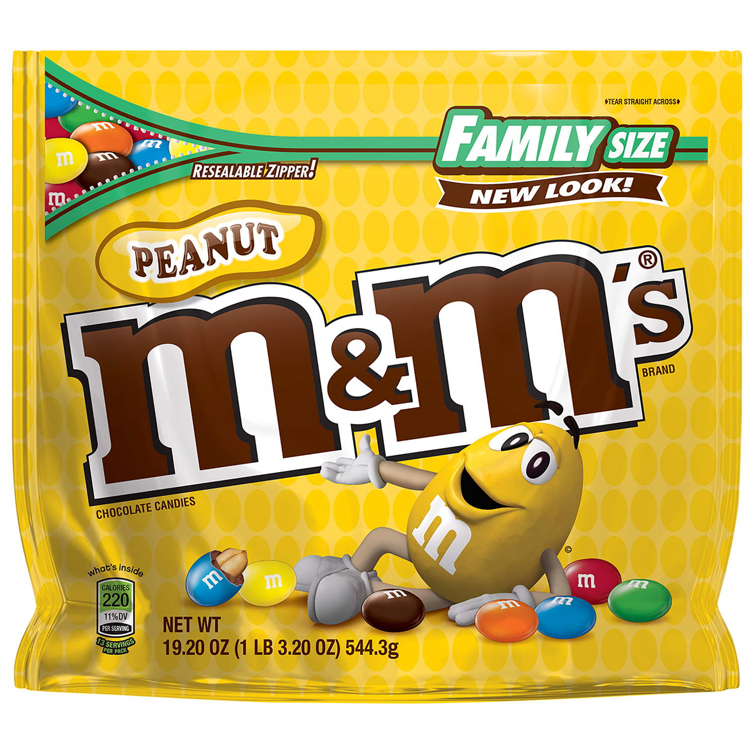 M&M's Peanut Milk Chocolate Candy, 19.2 Oz.