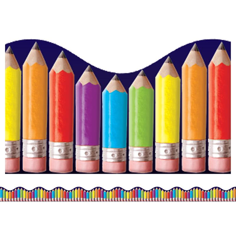 RAINBOW PENCILS SCALLOPED TRIMMER
