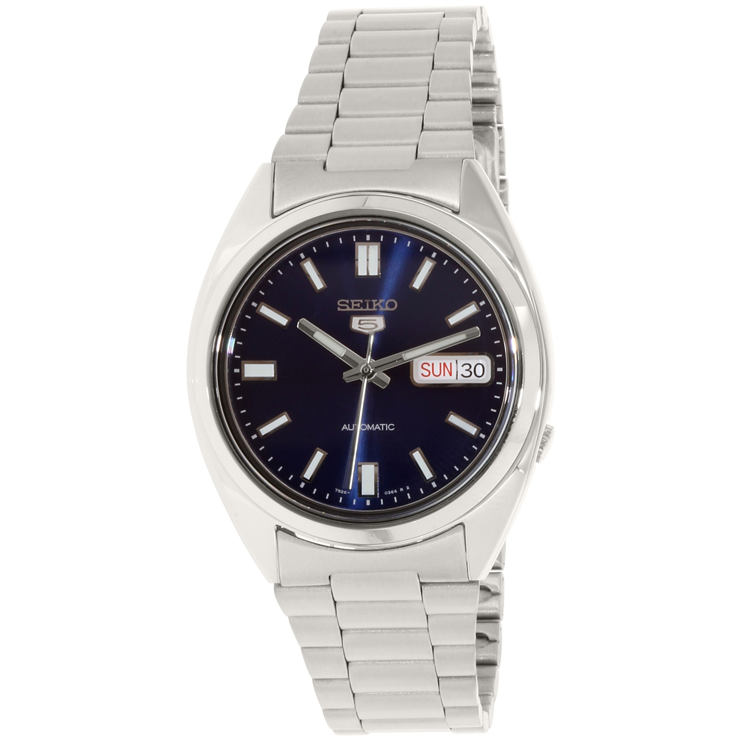 Seiko SNXS77 Men's 5 Sports Blue Dial Steel Bracelet Automatic Watch